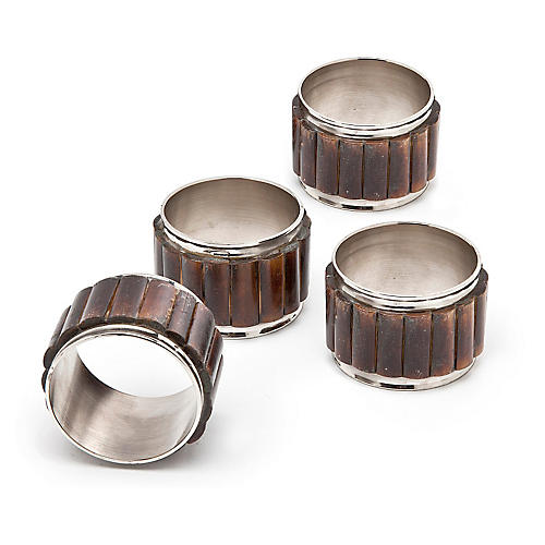 S/4 Bamboo Napkin Rings