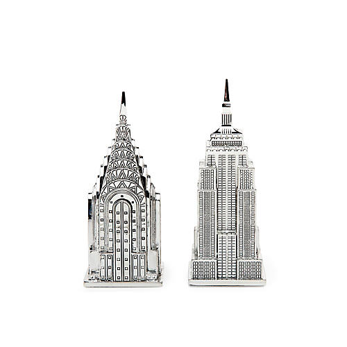 Empire State/ Chrysler Salt & Pepper Set