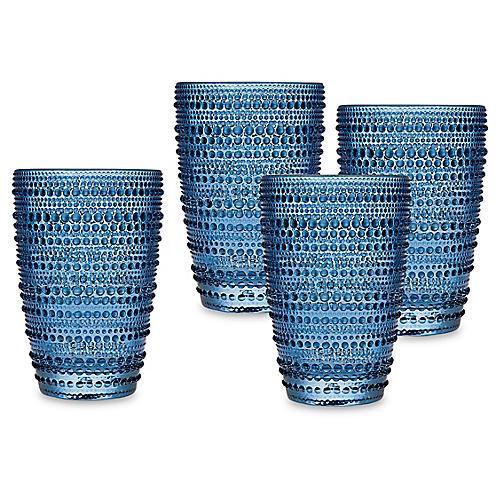 S/4 Lumina Highball Glasses, Blue