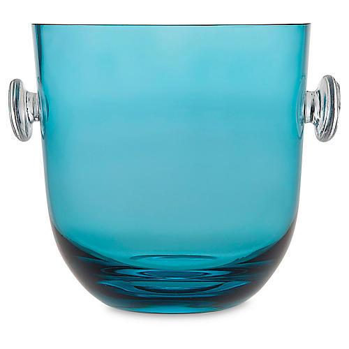 Rondo Ice Bucket, Blue/Clear