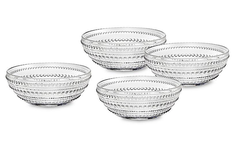 S/4 Lumina Bowls, Clear
