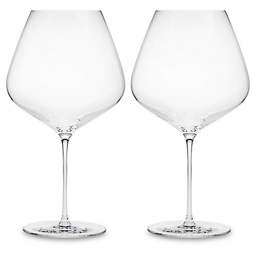 S/2 Carat Red-Wine Glasses, Clear