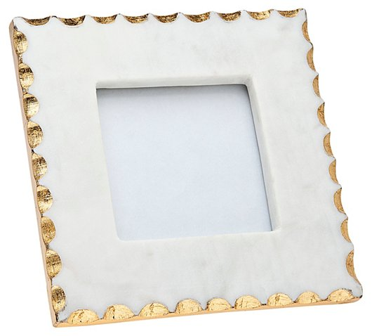 4x4 Americana Marble Frame, White/Gold - Picture Frames - Home ...