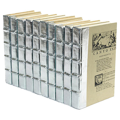 "10"" Metallic Books, Silver"
