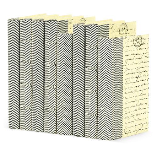 Linear Foot Of Chevron Books, Black
