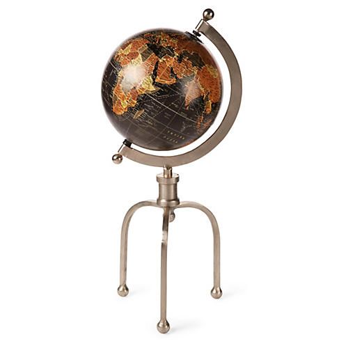 "21"" Globe with Industrial Stand"