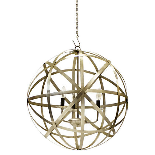 Planetary 3-Light Pendant, Brass