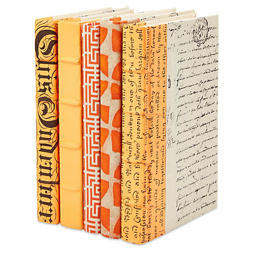S/5 Designer Books, Orange