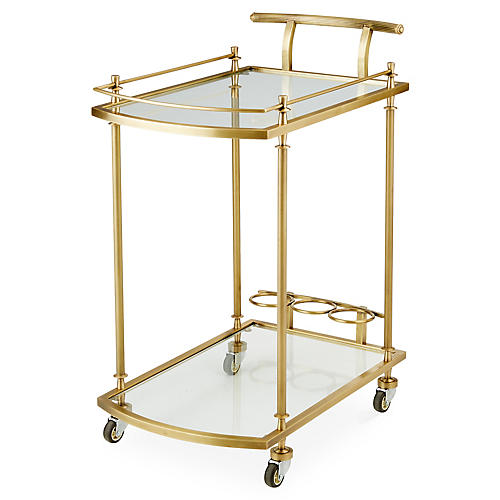 Salcedo Bar Cart, Brass