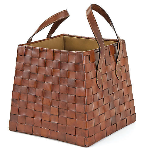 "13"" Byron Magazine Basket, Saddle"