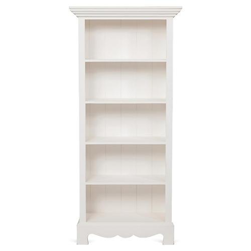Beach House Bookcase, White