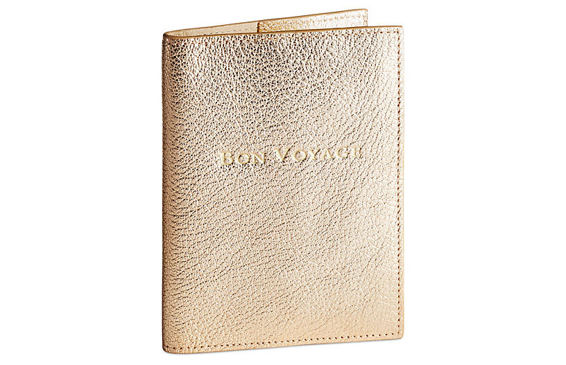 Passport Cover, Gold