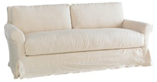 Sterling Slipcovered Sofa, Cream Linen