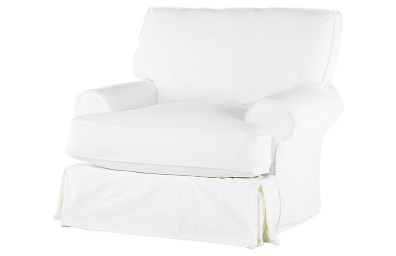 Comfy Swivel Club Chair White Rachel Ashwell Brands One Kings Lane