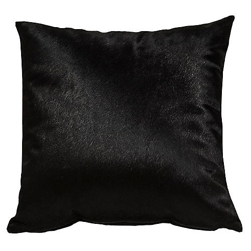 Full-Panel Hide Pillow, Ebony