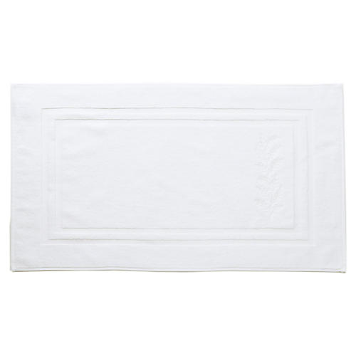 Willow Bath Mat, White/White