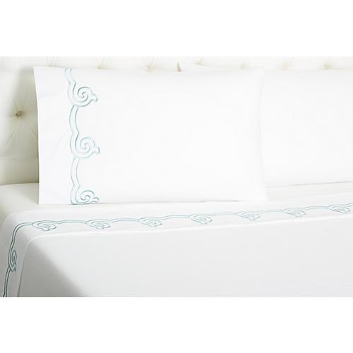 Serenity Sheet Set, Cadet Blue