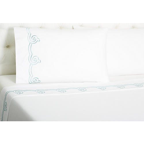 Serenity Sheet Set, Cadet Blue