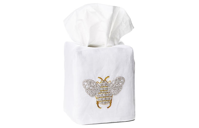 Bee Linen Tissue Box Cover - Hamburg House