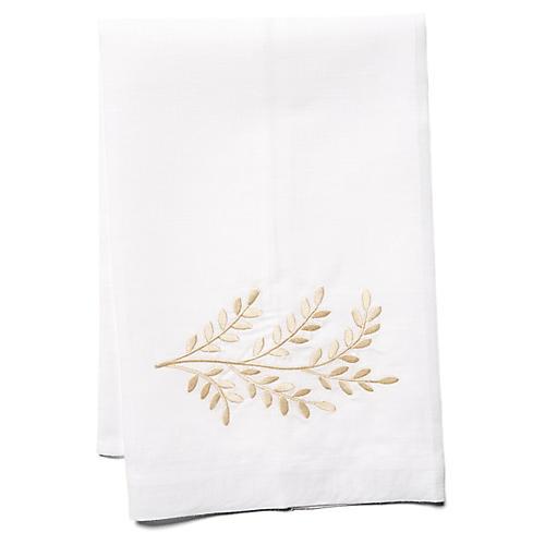 Willow Linen Guest Towel, Beige