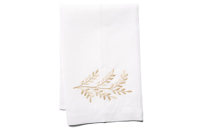 Willow Linen Guest Towel, Beige