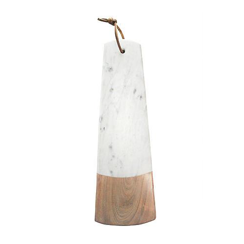 Acacia Long Rectangular Board, White