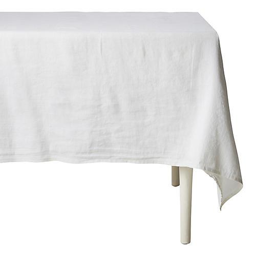 Carter Tablecloth, White