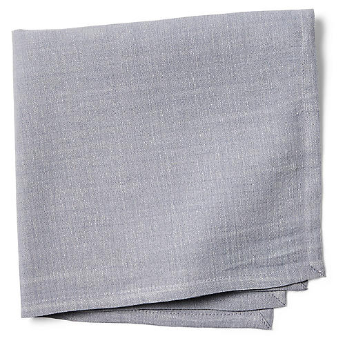 S/4 Turley Napkins, Chambray Blue