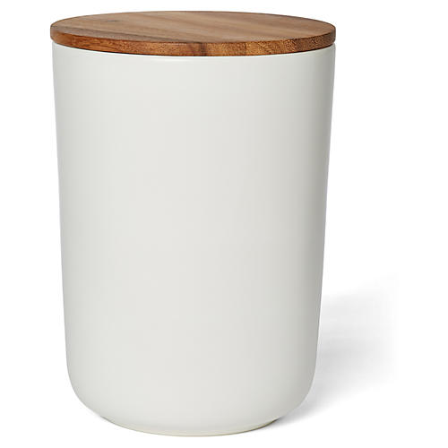 Acacia Large Canister, White