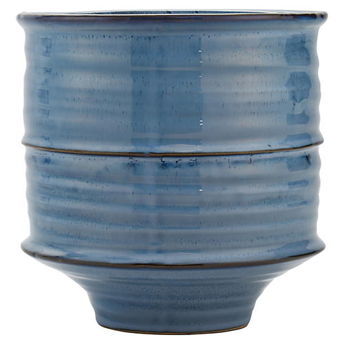 Shibori Ceramic Vase, Medium