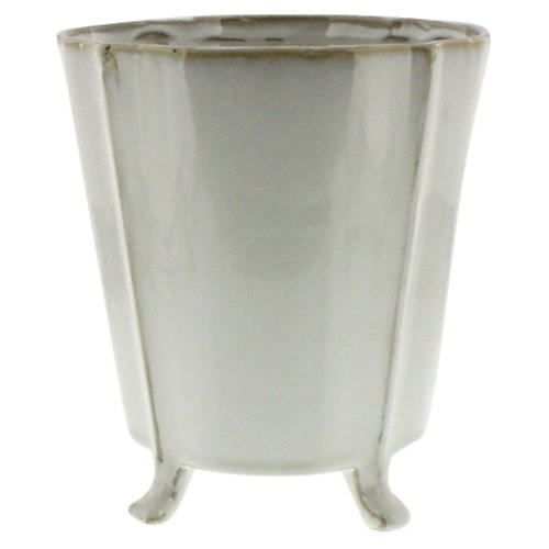 Rue Footed Ceramic Cachepot, Large