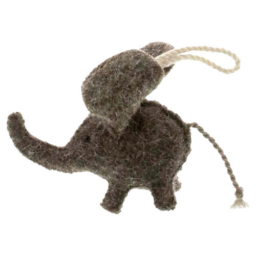 "4"" Elephant Ornament, Gray"