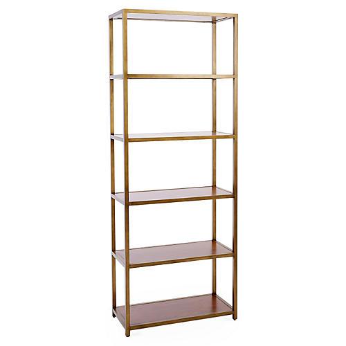"NYPL 80"" Bookcase, Gold"