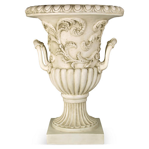 "30"" Entryway Urn, Antique Stone"