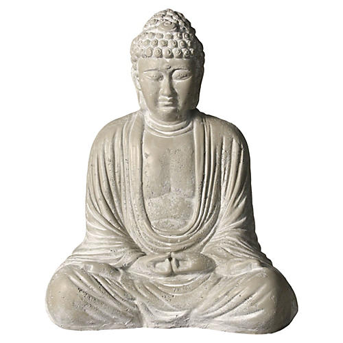 "18"" Meditating Buddha, Weather"