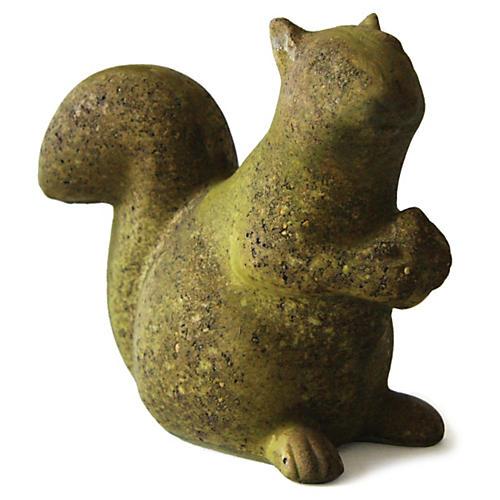"""8"""" Squirrel w/ Acorn, Verde"""