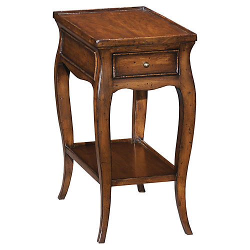 French Nightstand, Alder/Cherry