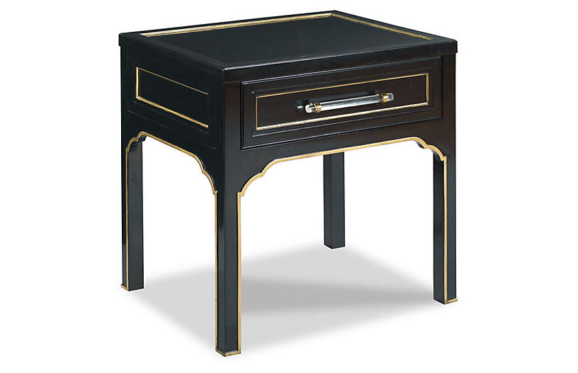 Brunell Nightstand, Black/Gold