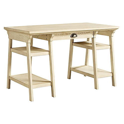 Driftwood Park Desk, Vanilla