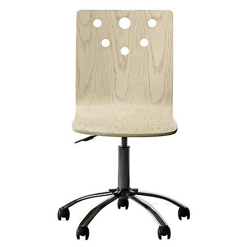 Driftwood Park Desk Chair, Whitewash