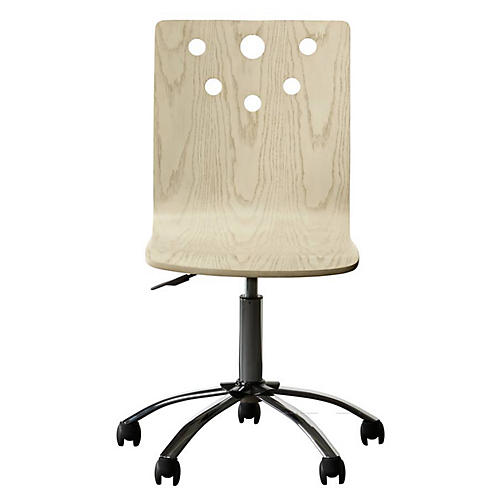 Driftwood Park Desk Chair, Whitewash