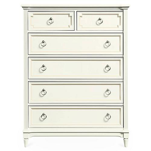 Clementine Tall Dresser, White