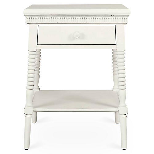 Smiling Hill 1-Drawer Nightstand, Chalk