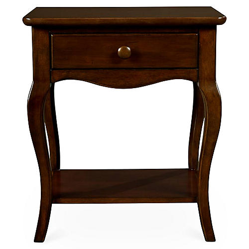 Teaberry Lane 1-Drawer Nightstand, Cherry
