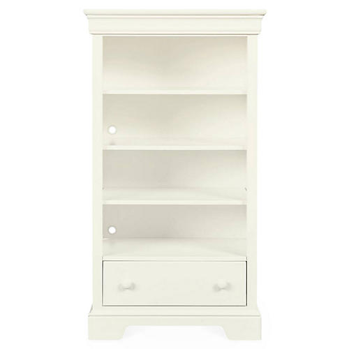 Teaberry Lane Bookcase, Stardust White