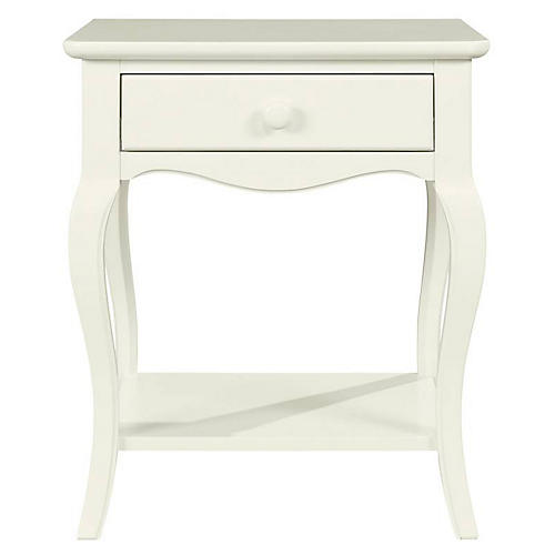 Teaberry Lane 1-Drawer Nightstand, Stardust White