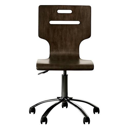 Chelsea Square Desk Chair, Raisin