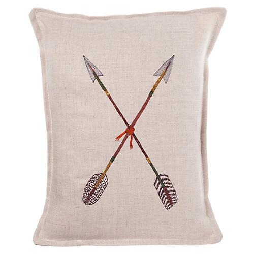Crossed Arrows 12x16 Linen Pillow