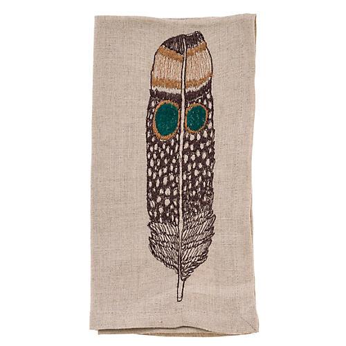 Owl Feather Dinner Napkin