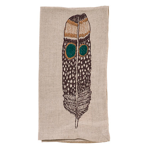 Owl Feather Dinner Napkin